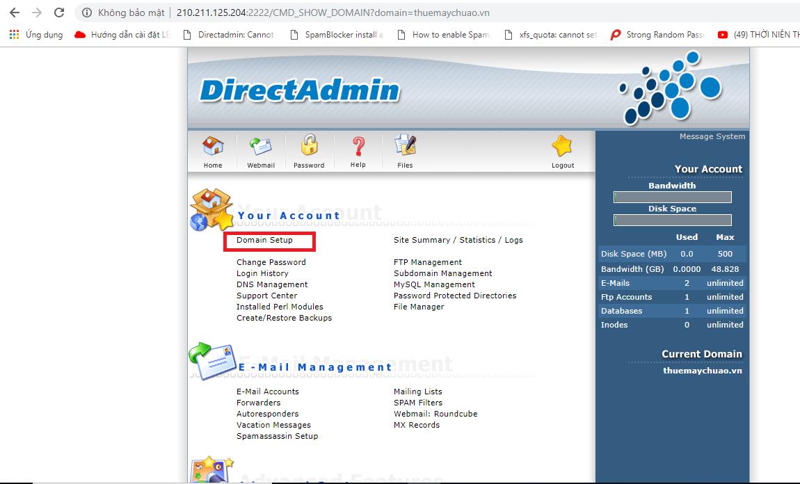Hướng dẫn cài đặt chứng chỉ số (SSL Comodo) trên Hosting DirectAdmin